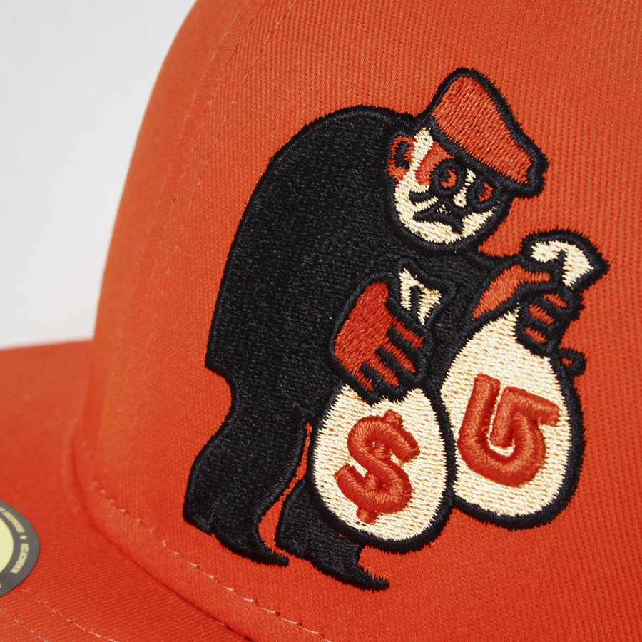 Embroidered baseball hat design for Burton Snowboards, part of a line, designed by RXVP