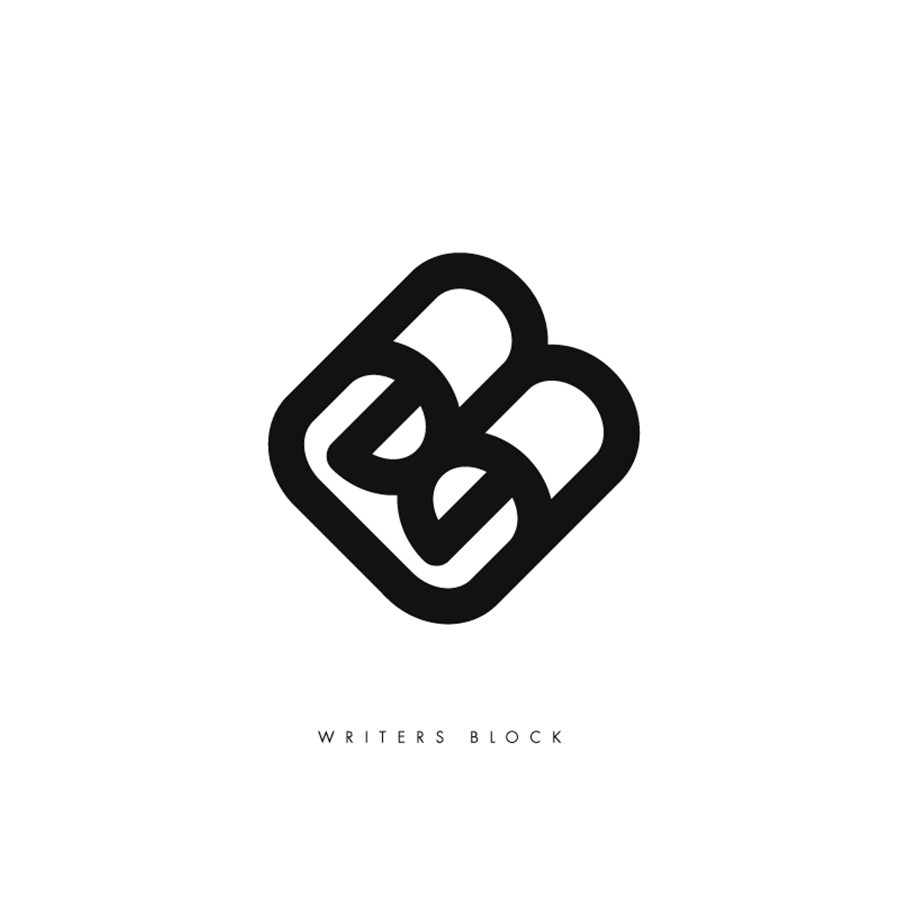 Logo design for Writers Block, designed by RXVP