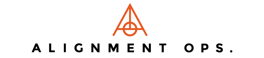 Logo for Alignment Ops, designed by RXVP