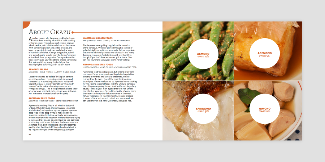 Book layout design 04 for Japanese cookbook Let's Cooking by Hana Etsuko, designed by RXVP