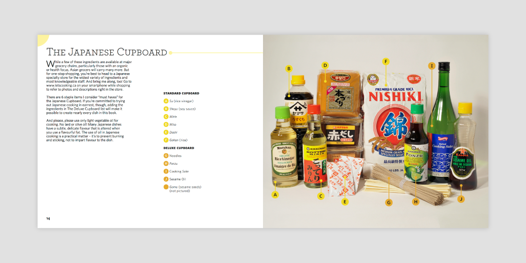Book layout design 06 for Japanese cookbook Let's Cooking by Hana Etsuko, designed by RXVP